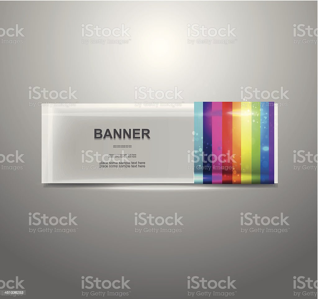 Vector colorful banner royalty-free stock vector art