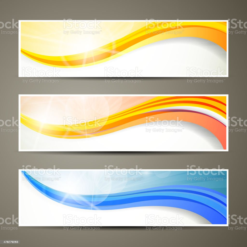 Vector Colorful Banners royalty-free stock vector art