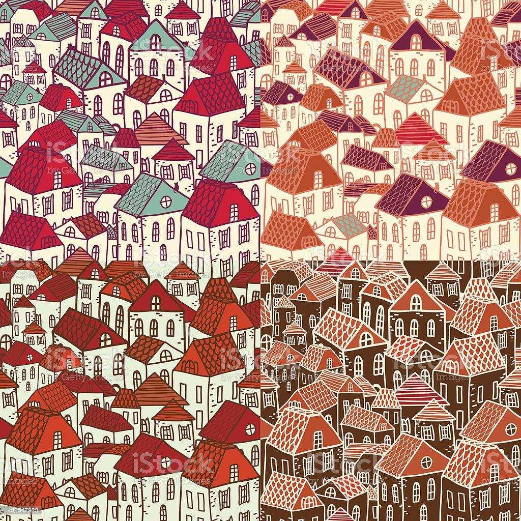 Vector colorido fondo de la ciudad. illustracion libre de derechos libre de derechos