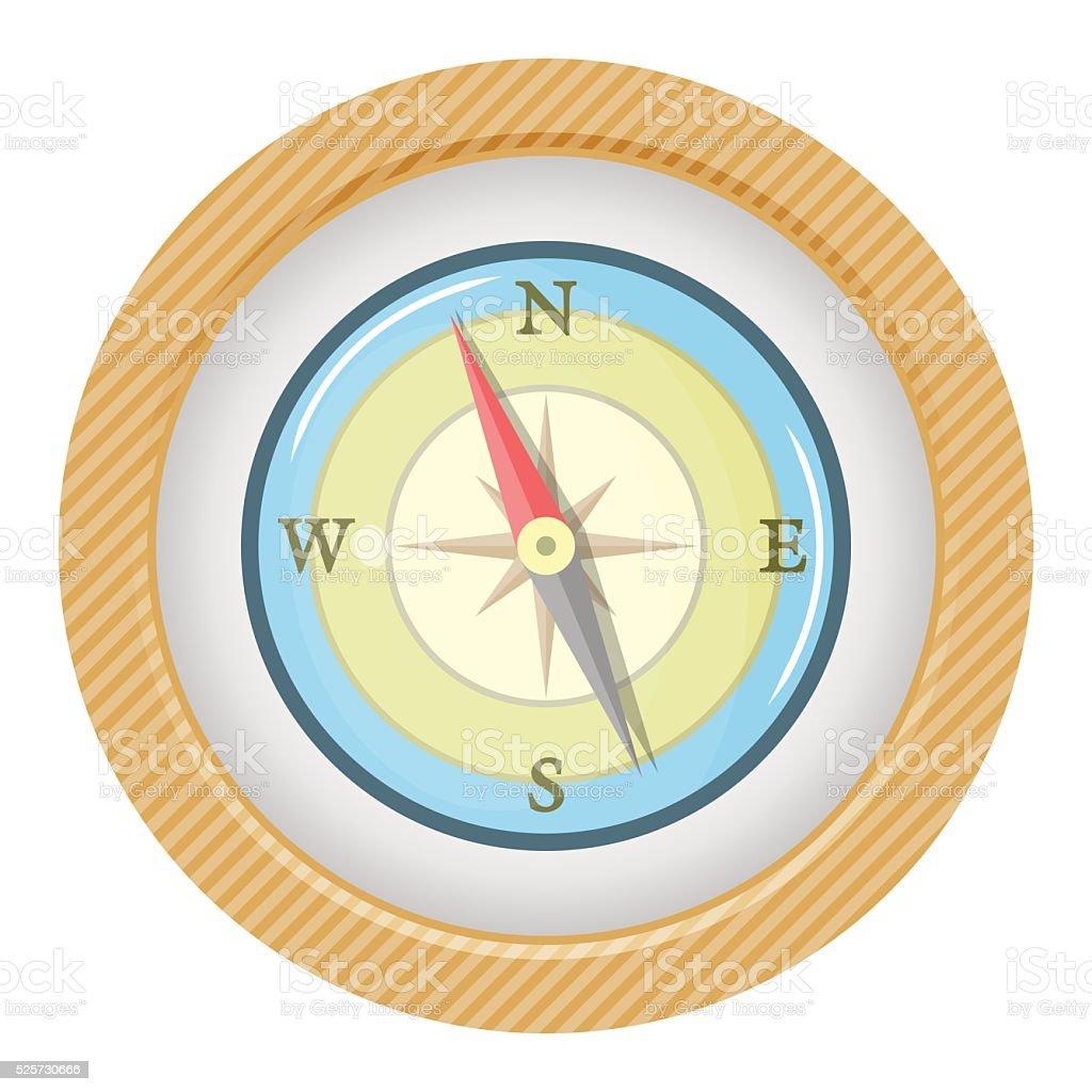 Vector colorful compass icon vector art illustration