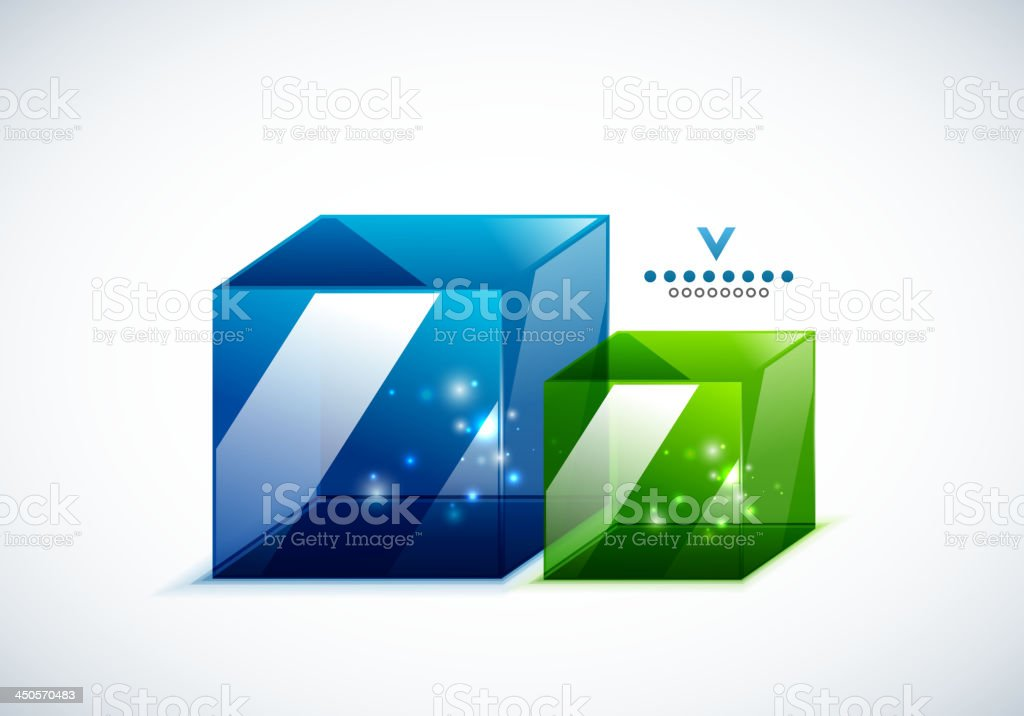 Vector colorful cubes background royalty-free stock vector art