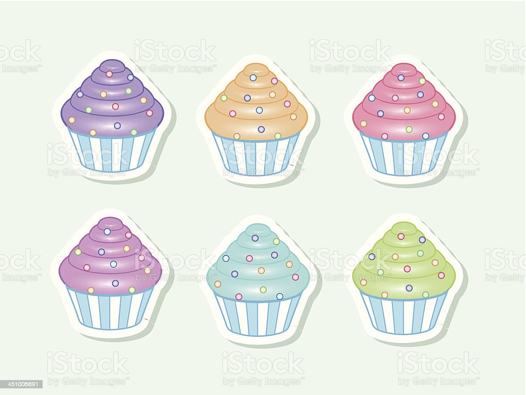 Vector colorful cupcakes royalty-free stock vector art