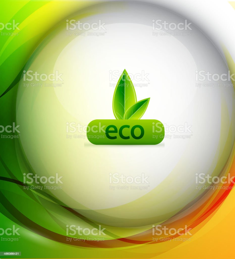 Vector colorful eco background royalty-free stock vector art