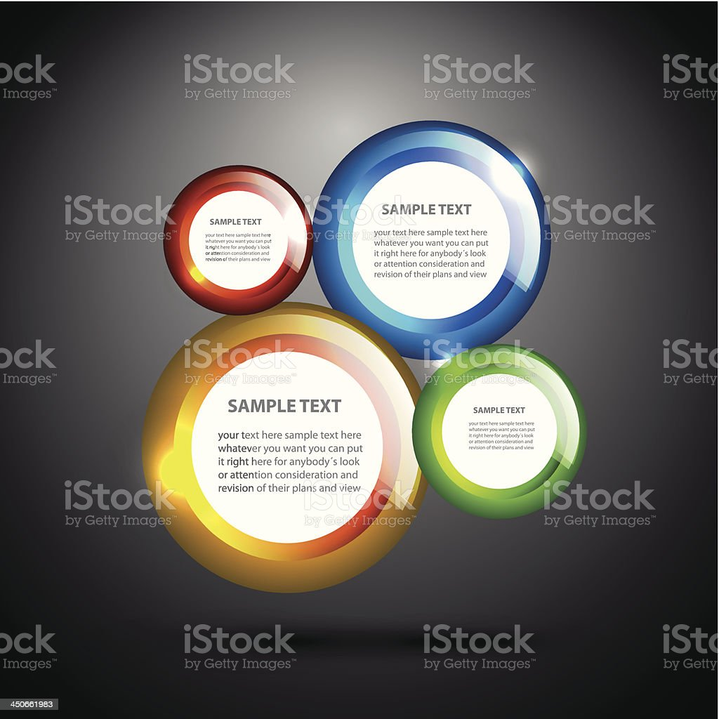 Vector colorful glossy circles background royalty-free stock vector art