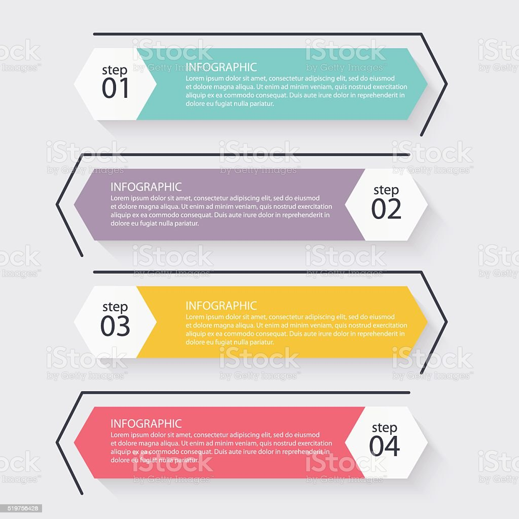Vector colorful info graphics for your business presentations. royalty-free stock vector art