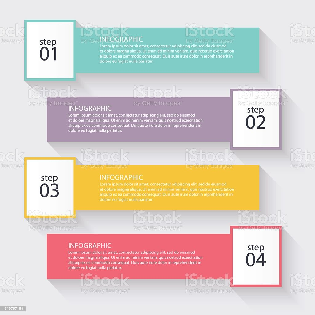 Vector colorful info graphics for your business presentations. vector art illustration