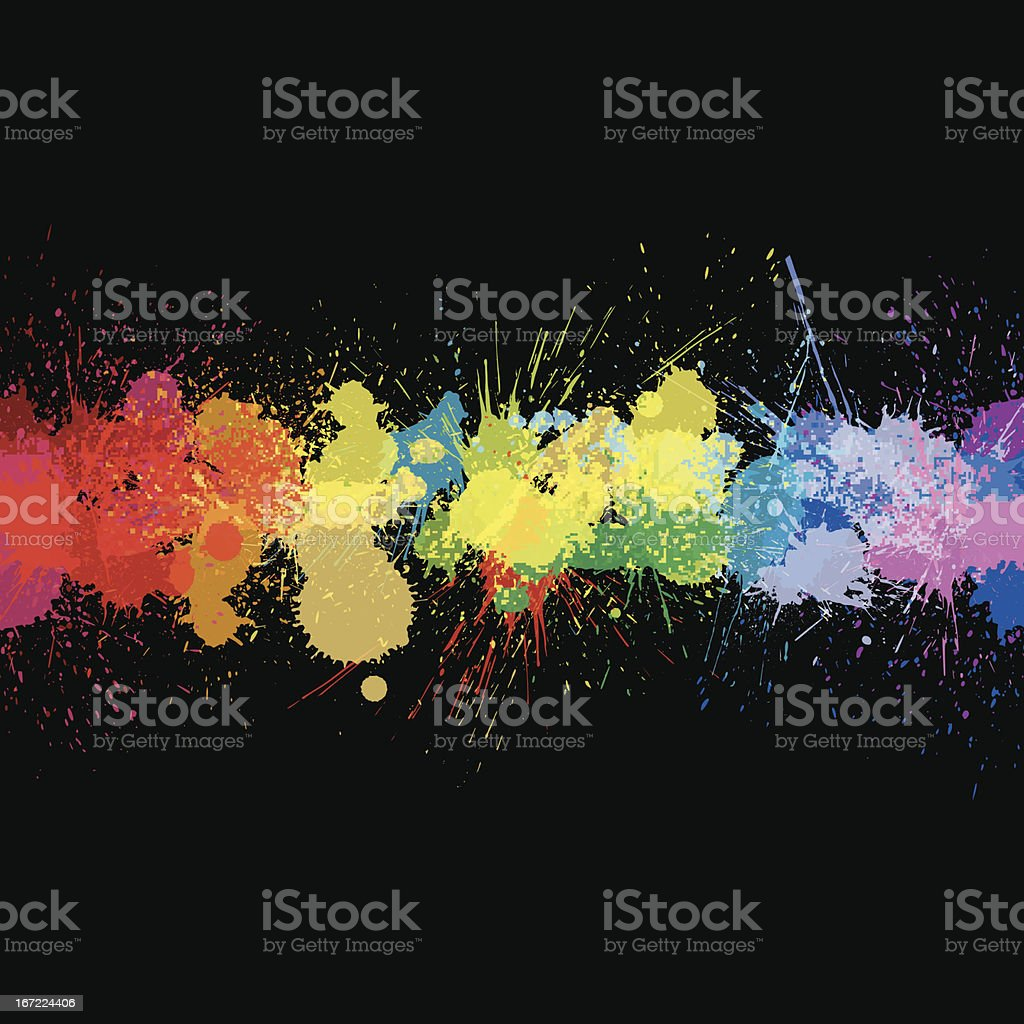 vector colorful ink splashes background vector art illustration