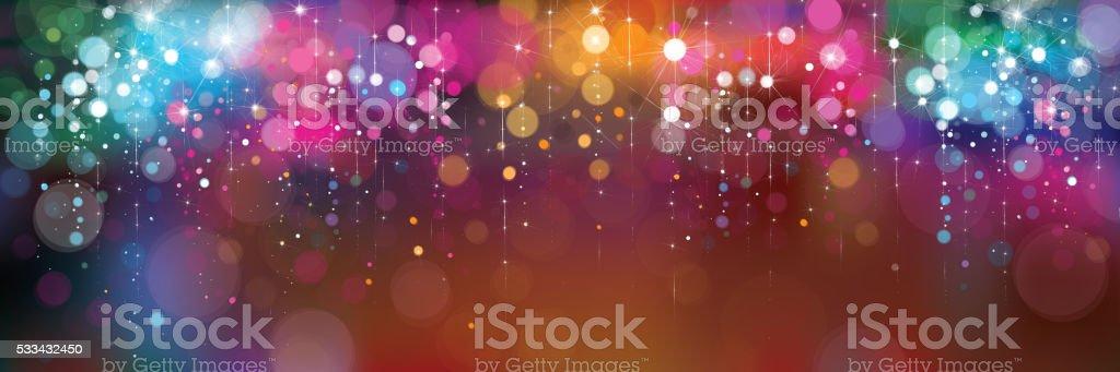 Vector colorful lights background. vector art illustration