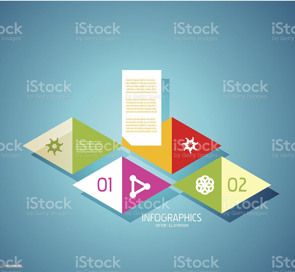 Vector colorful paper infographic design vector art illustration