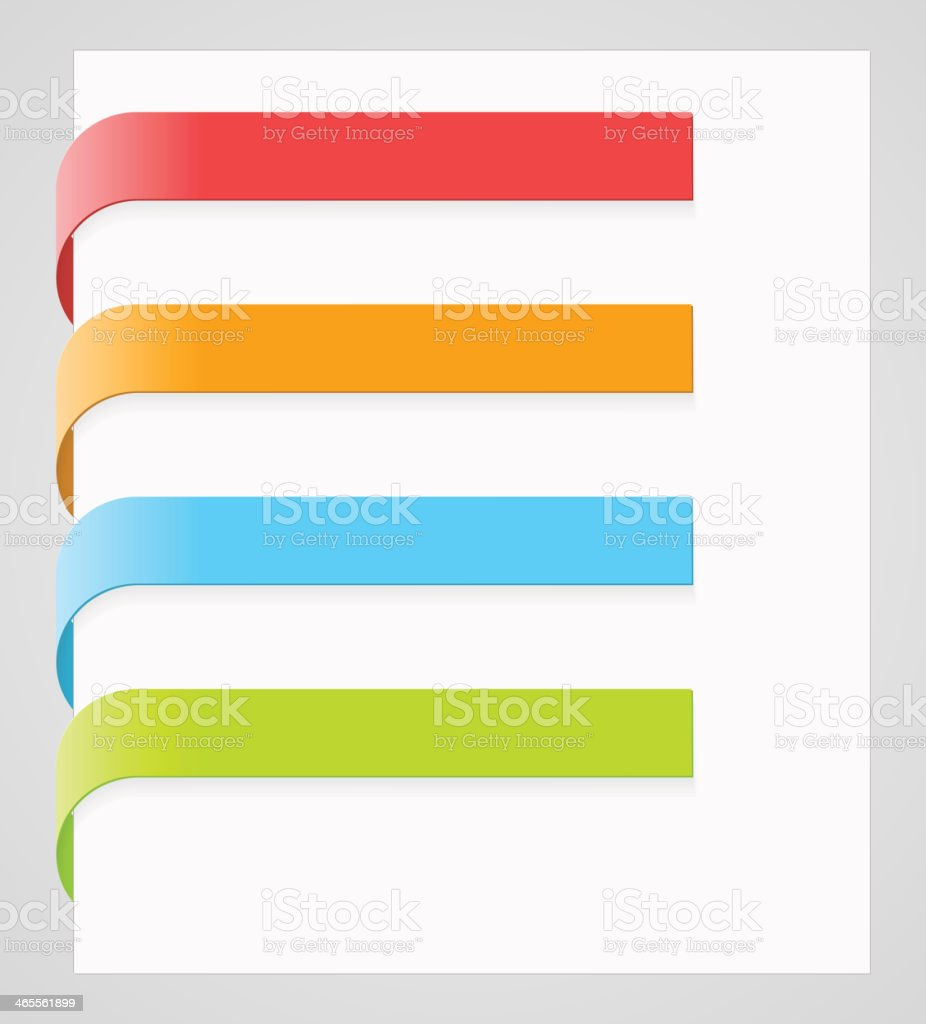 Vector colorful paper labels vector art illustration