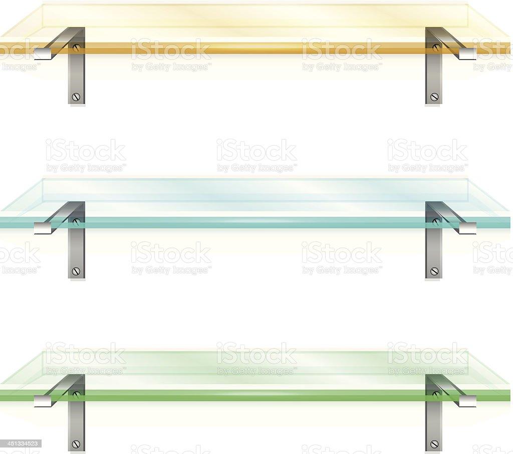 Vector colorful shelves royalty-free stock vector art