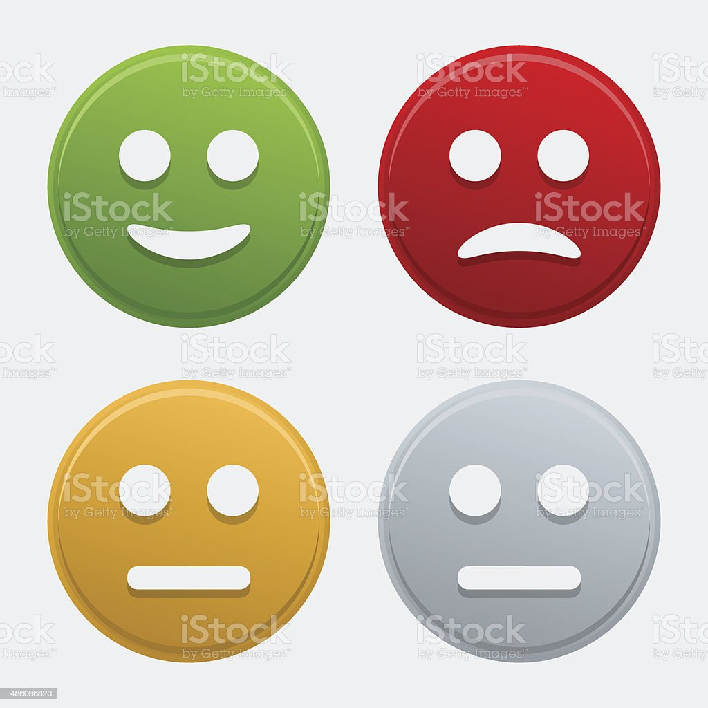 Vector colorful smile icons vector art illustration