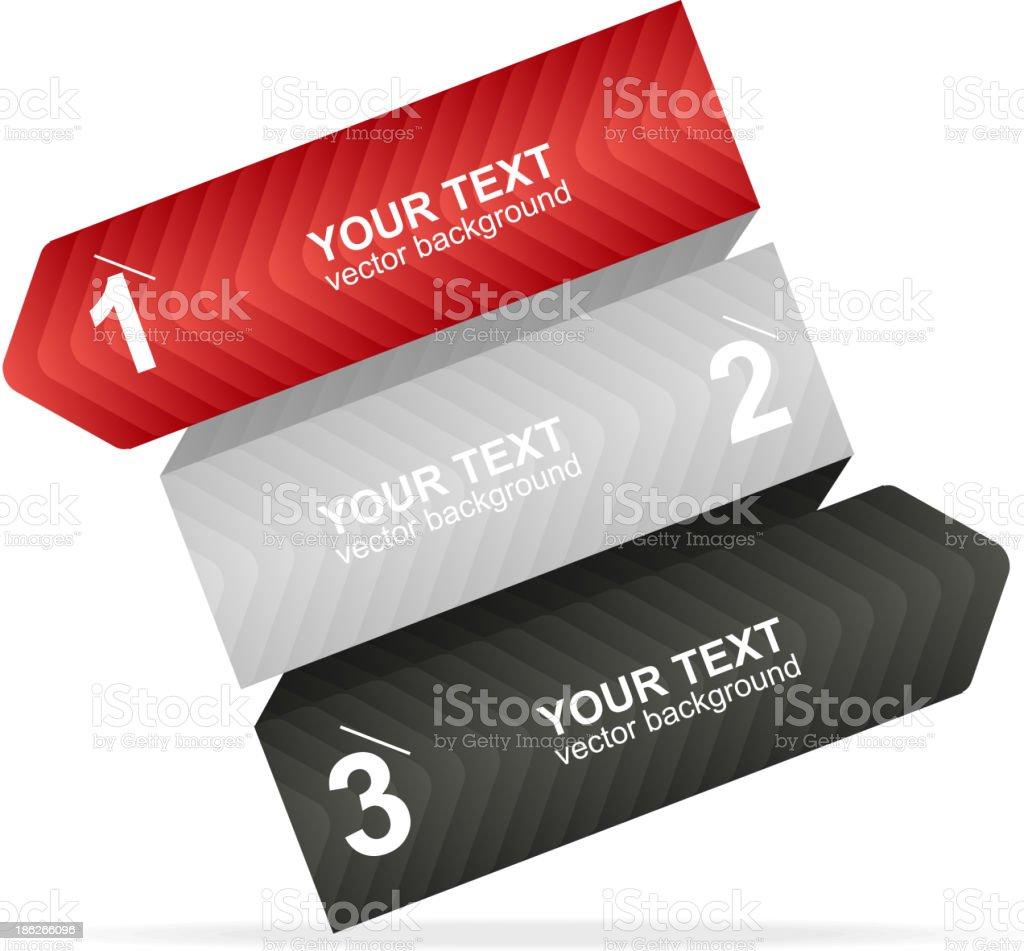 Vector colorful text box 1,2,3 concept royalty-free stock vector art