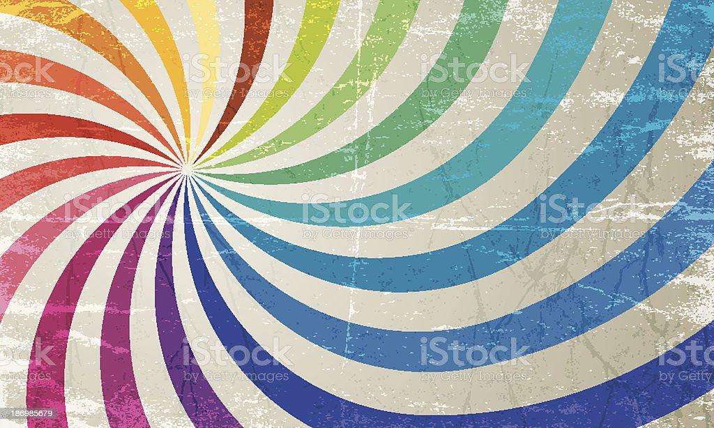 vector colorful vintage sun burst background vector art illustration