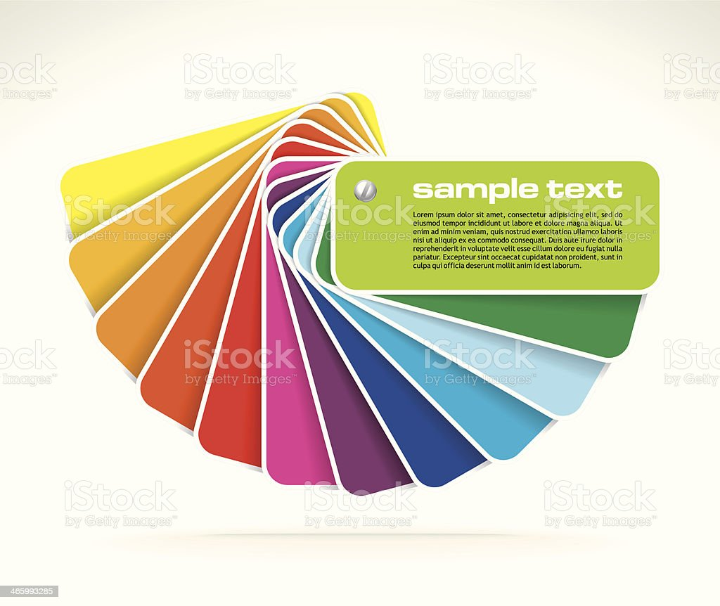 vector colour guide vector art illustration
