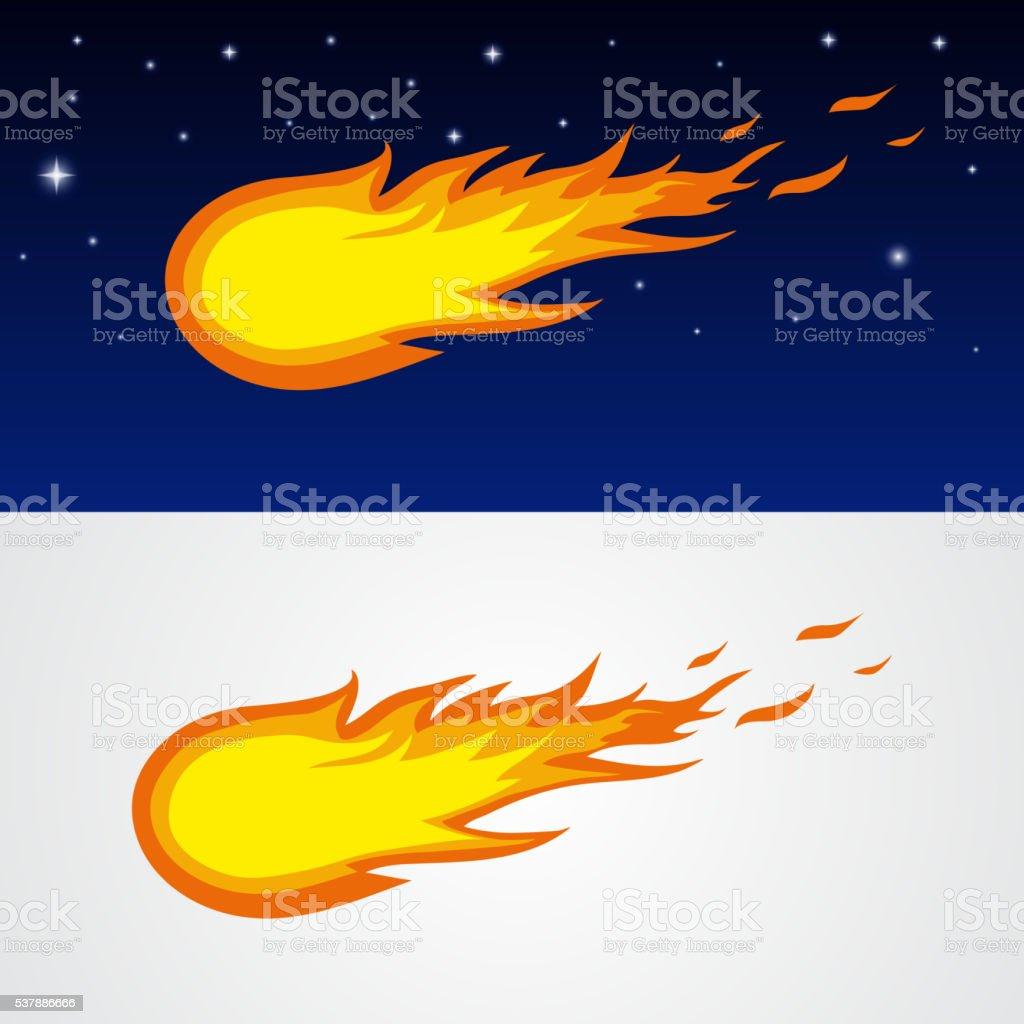 Vector comet icon vector art illustration