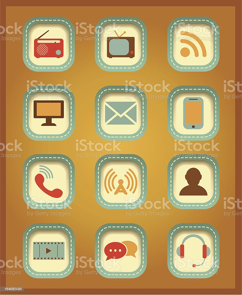 Vector Communication icons. royalty-free stock vector art