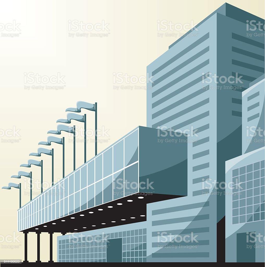Vector company center vector art illustration