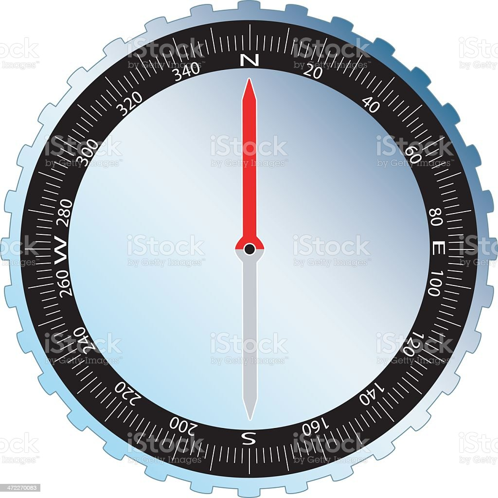 Vector compass 2d1 vector art illustration