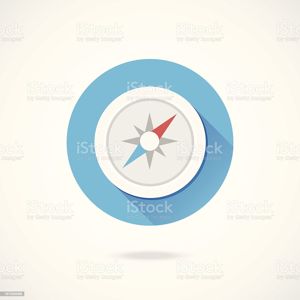 Vector Compass Icon royalty-free stock vector art