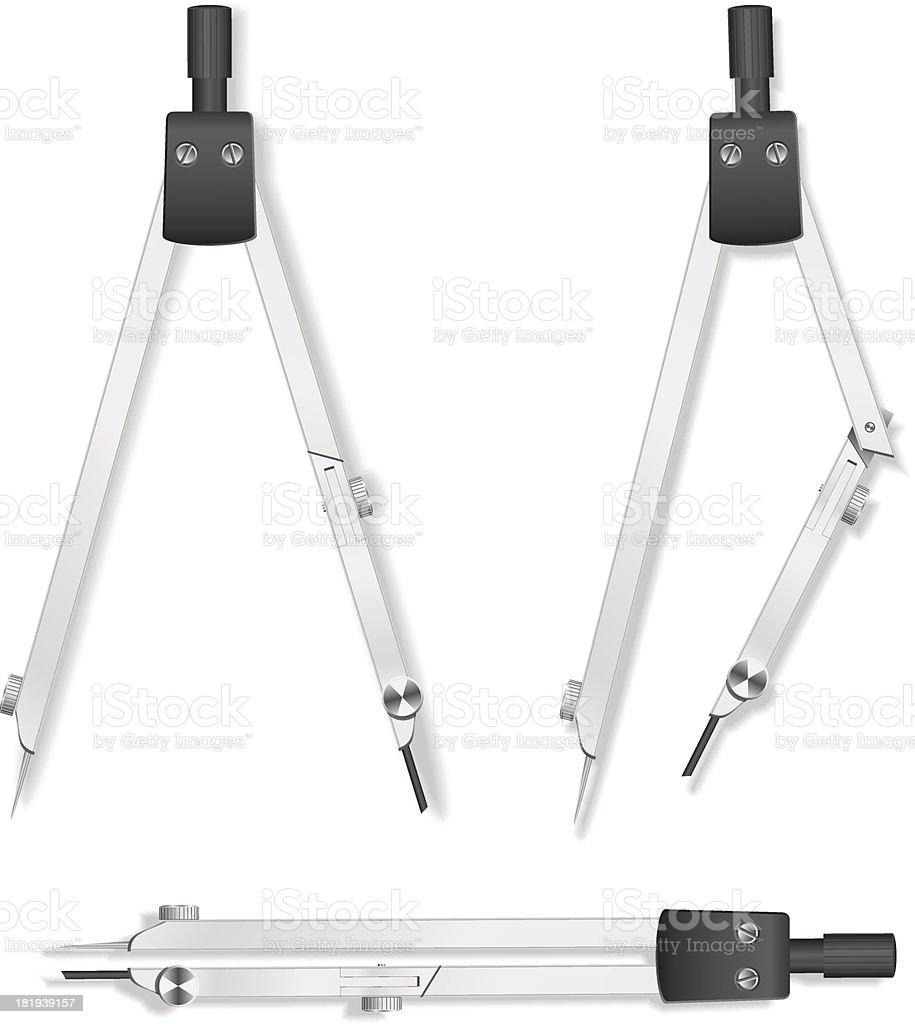 Vector compasses royalty-free stock vector art