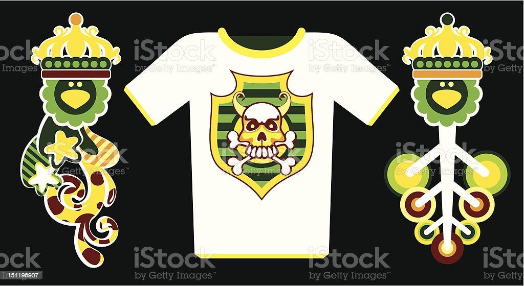 vector composition on a T-shirt vector art illustration