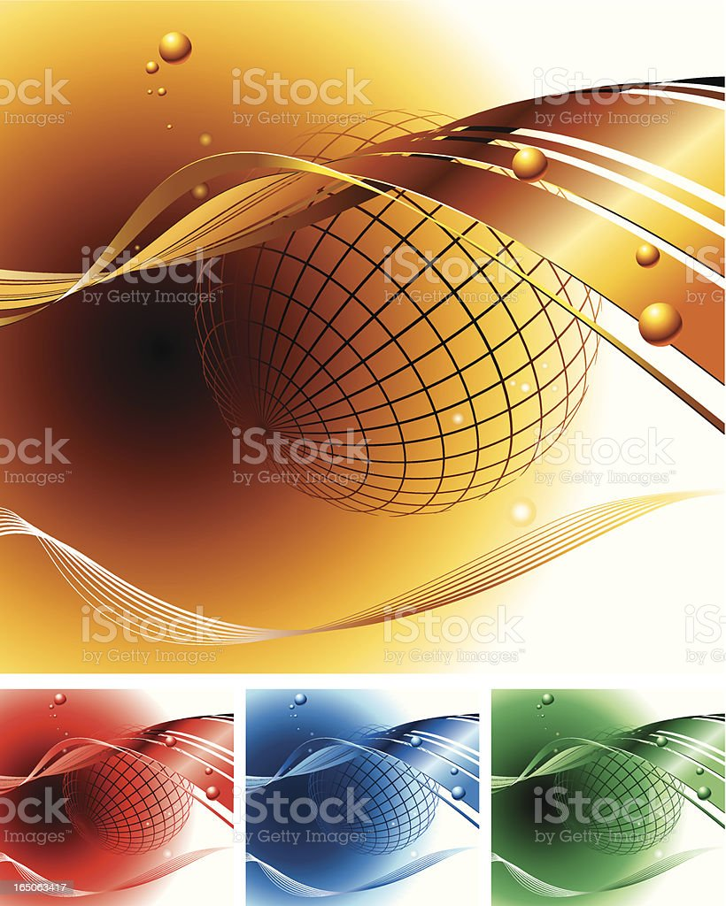 vector composition with space/globe elements royalty-free stock vector art