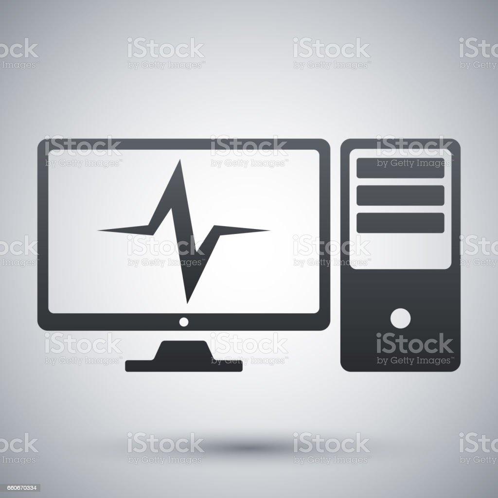 Vector computer diagnostics icon vector art illustration
