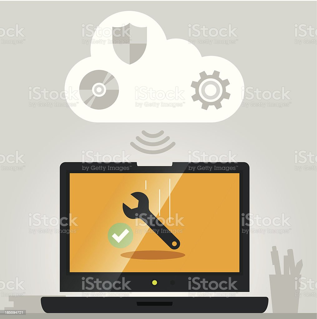 Vector computer support royalty-free stock vector art