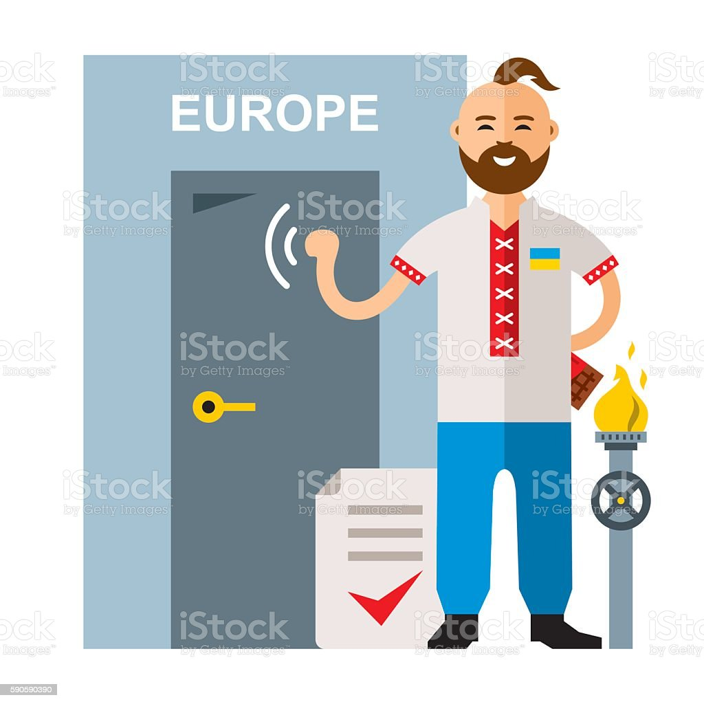 Vector Concept Membership in the European Union. Flat style colorful vector art illustration
