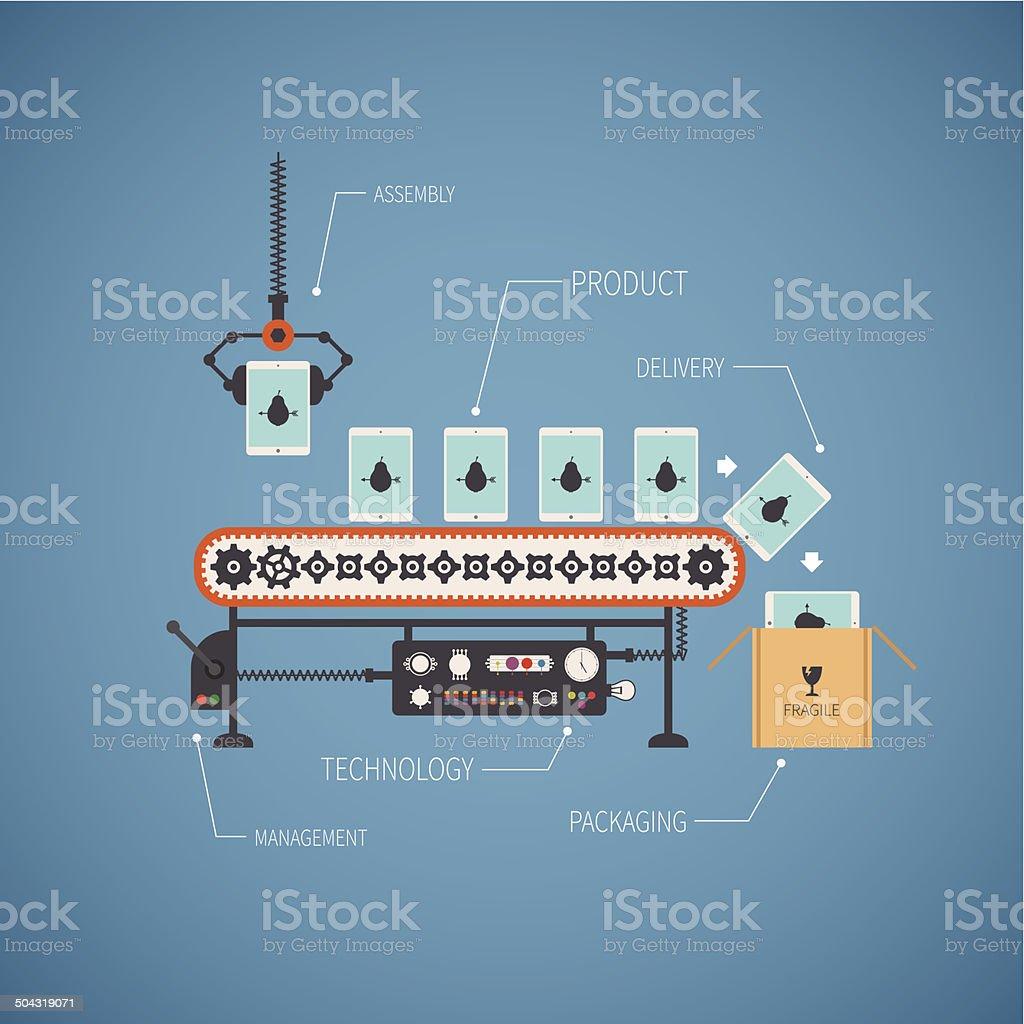 Vector concept of hi end production vector art illustration