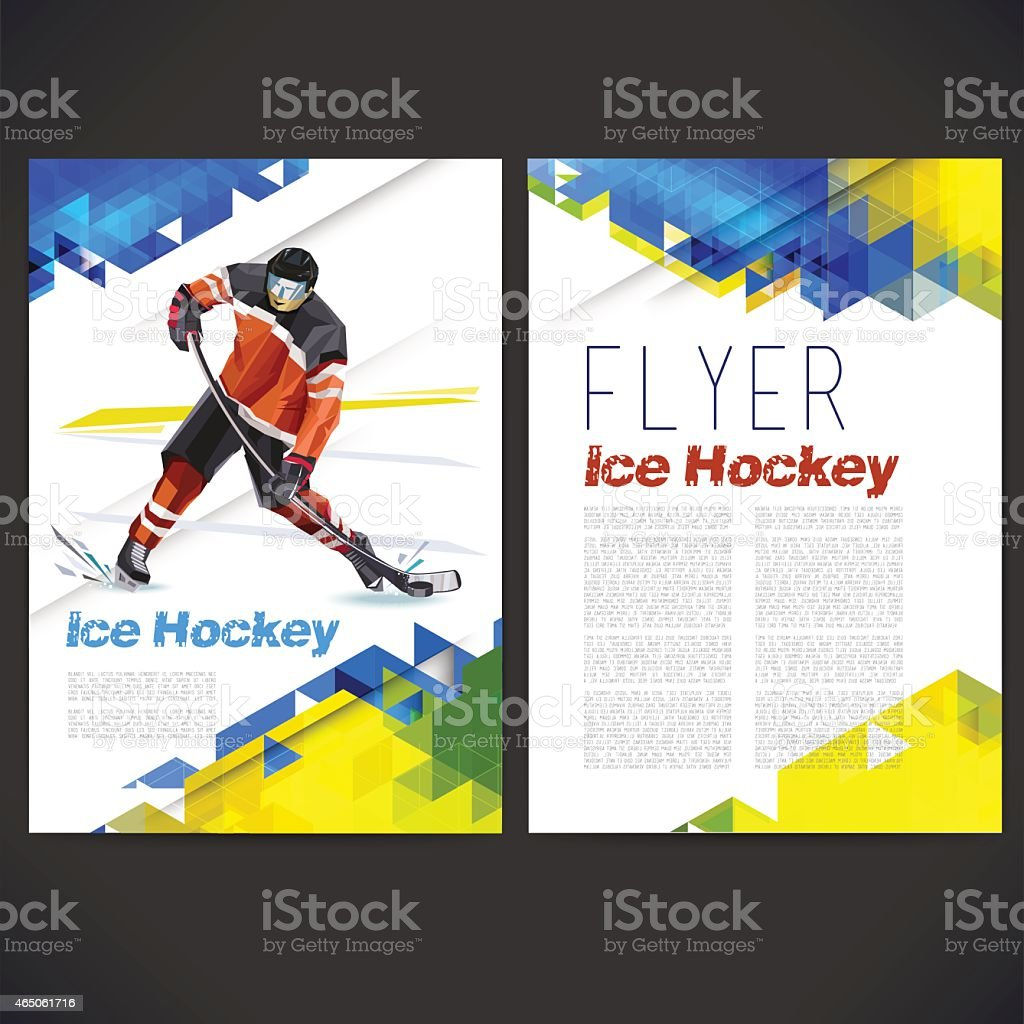Vector concept of ice hockey player vector art illustration