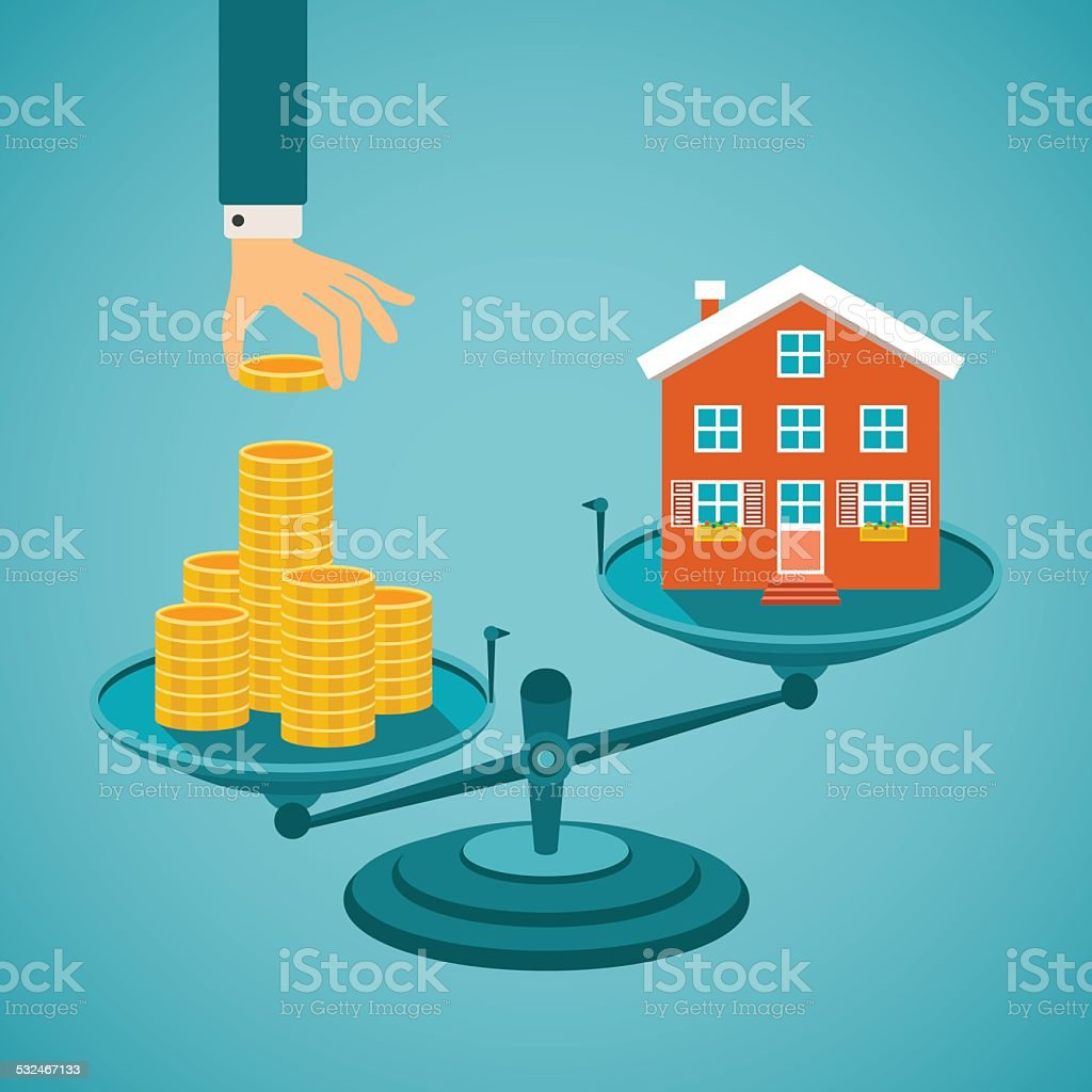 Vector concept of investment in real estate vector art illustration