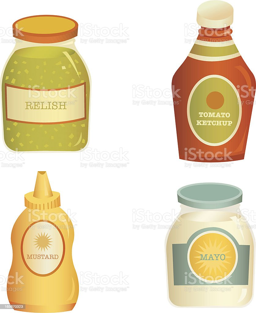 Vector Condiment Set vector art illustration