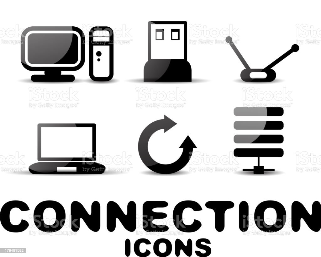 Vector connection icons royalty-free stock vector art