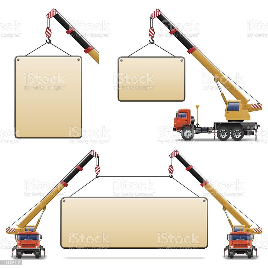 Vector Construction Machines Set 6 vector art illustration