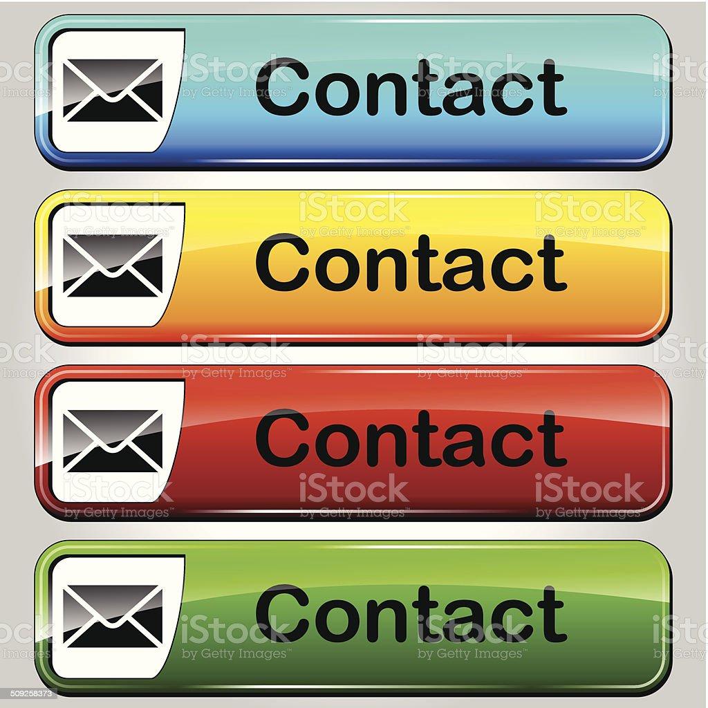 Vector contact buttons royalty-free stock vector art