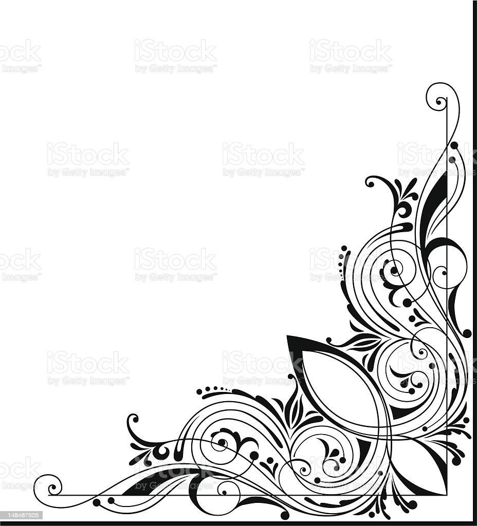 Vector Corner Design royalty-free stock vector art