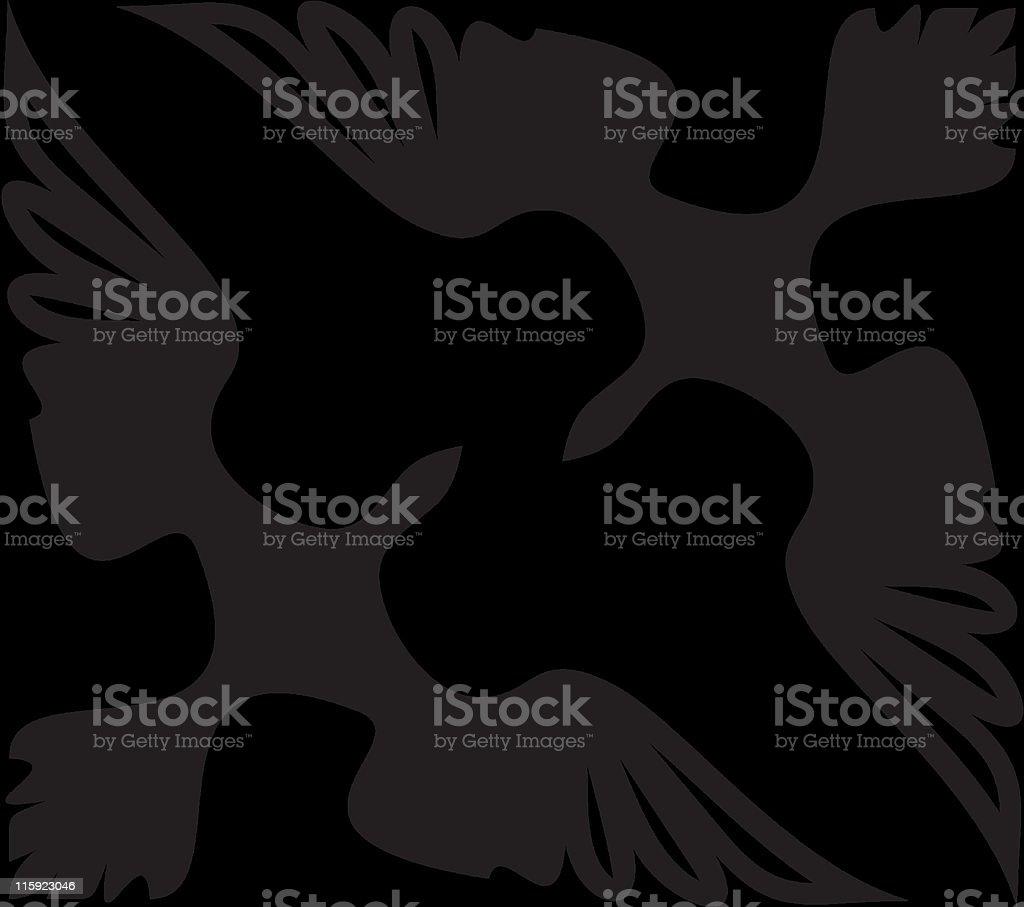 Vector corner ornament - Birds royalty-free stock vector art
