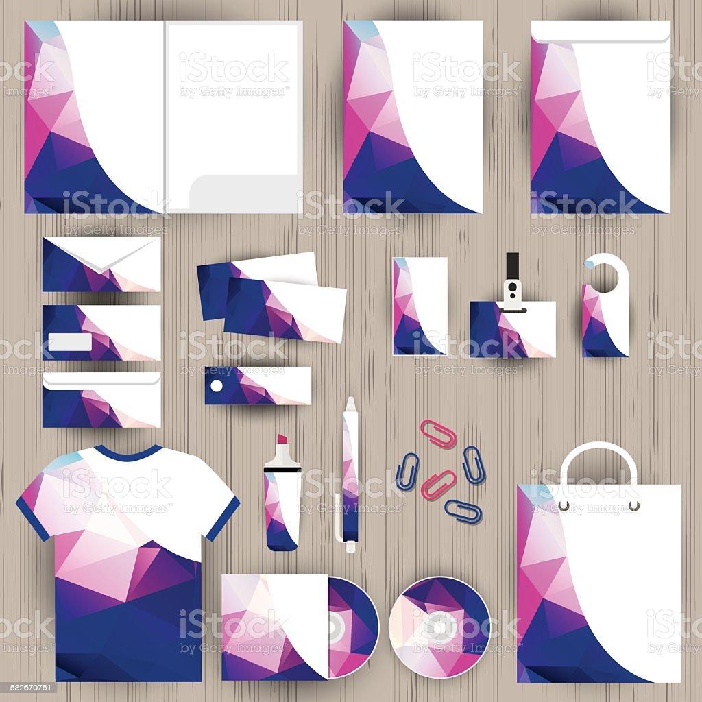 Vector corporate identity, triangle pattern design, geometric background vector art illustration