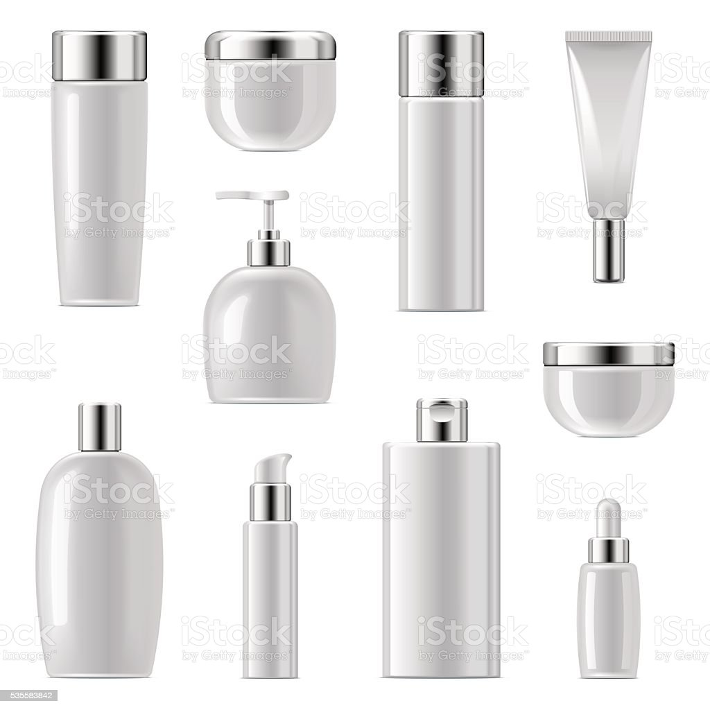 Vector Cosmetic Packaging Icons Set 2 vector art illustration