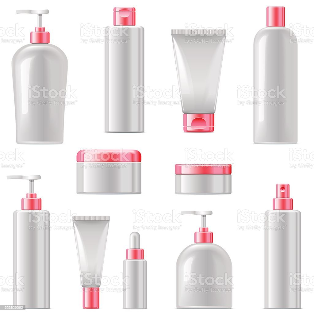 Vector Cosmetic Packaging Icons vector art illustration