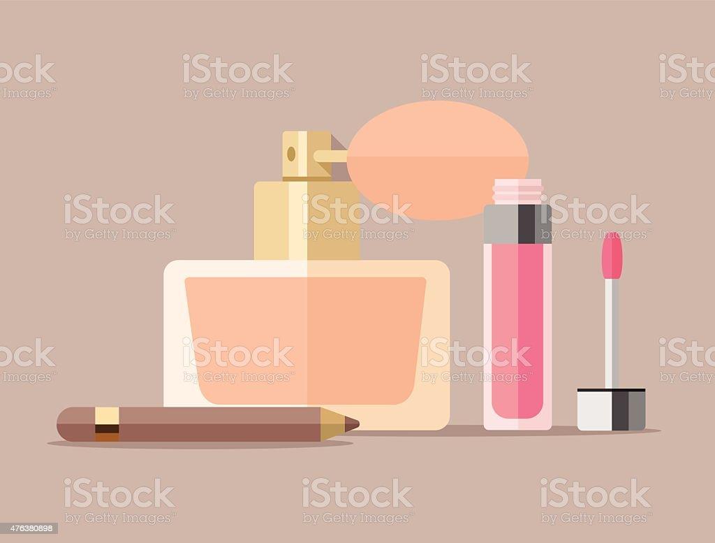 Vector cosmetics flat illustration vector art illustration