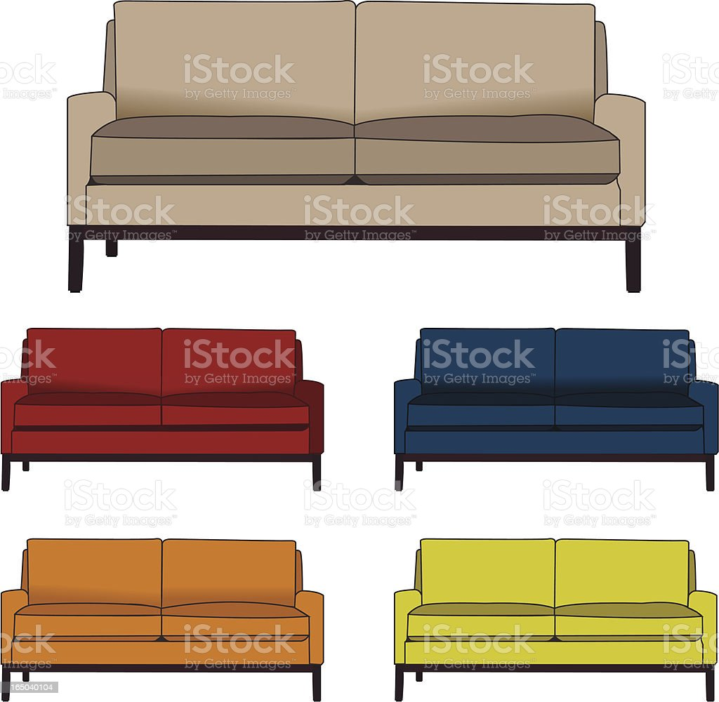 Vector couch vector art illustration