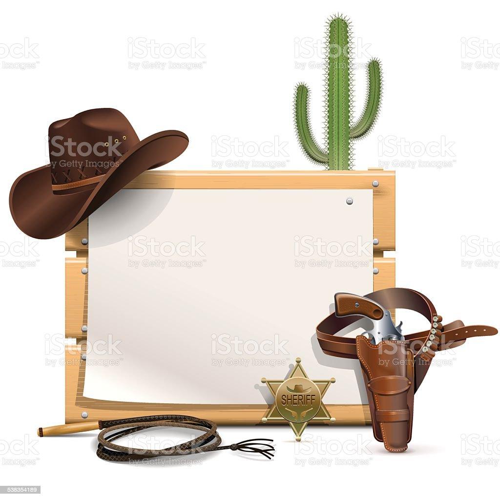 Vector Cowboy Frame vector art illustration