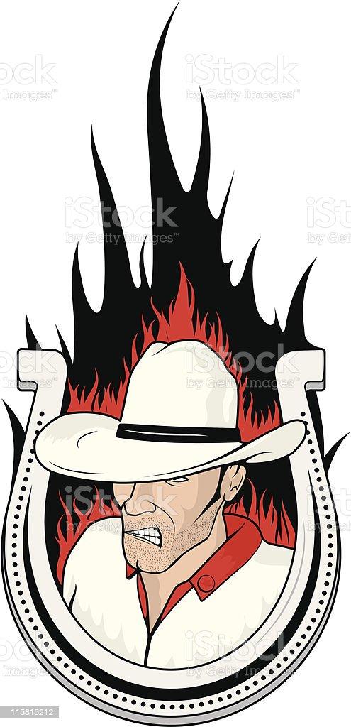 vector cowboy2 royalty-free stock vector art