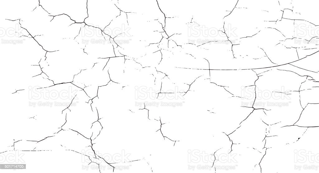 Vector crack shape vector art illustration