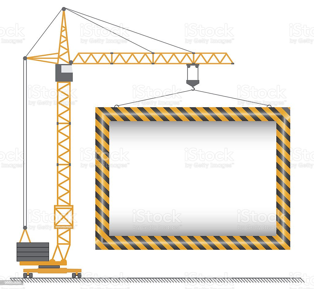 vector crane vector art illustration