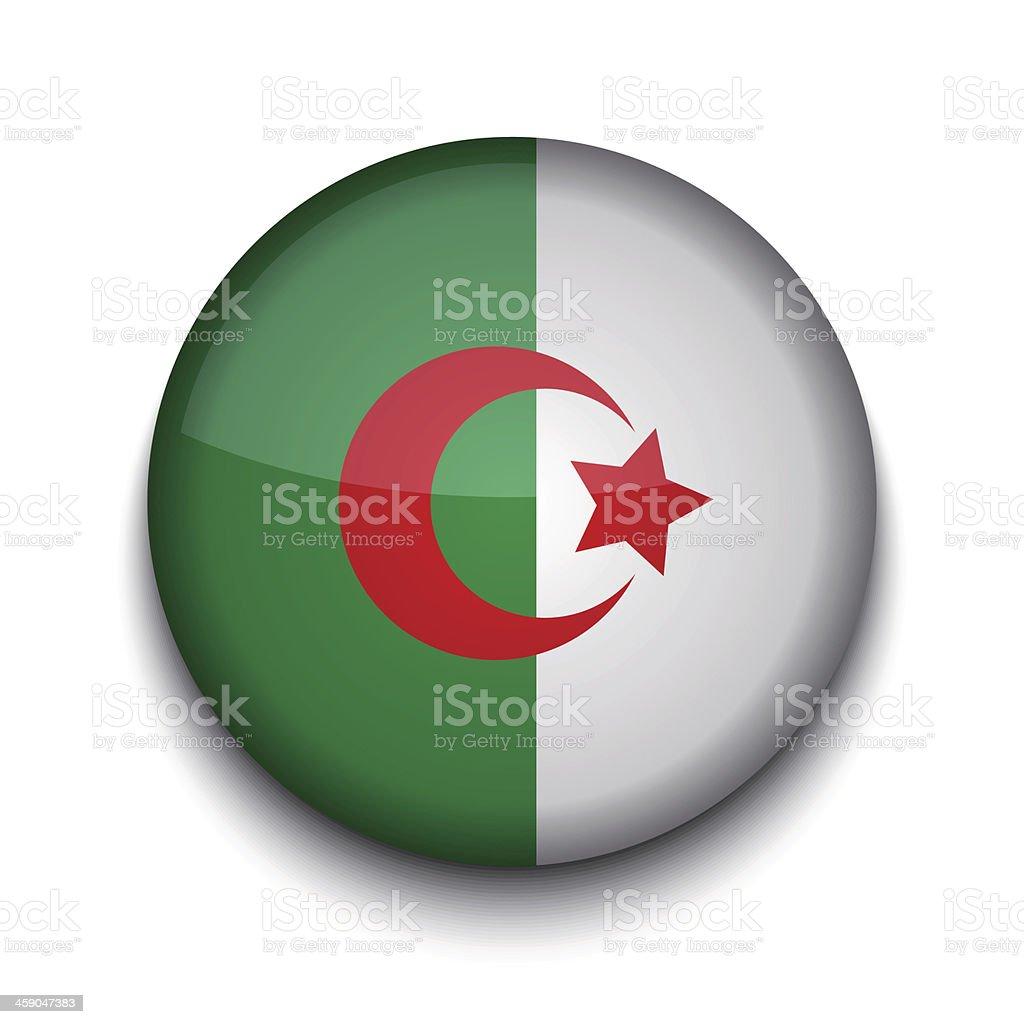 Vector creative circle flag on white background. Eps10 vector art illustration
