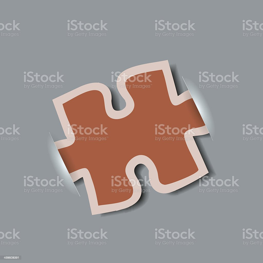 Vector creative computer puzzle background. Eps10 royalty-free stock vector art